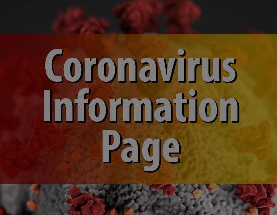 Coronavirus Information Page Button