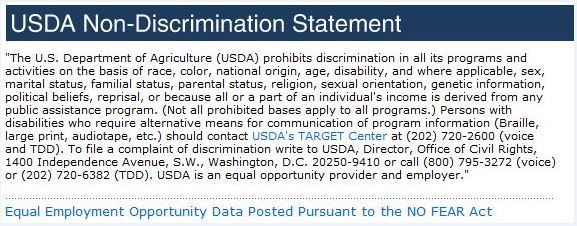 USDA Non-Discrimination Statement