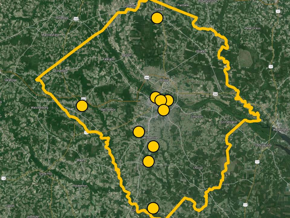Pitt County Computer Locations - 10