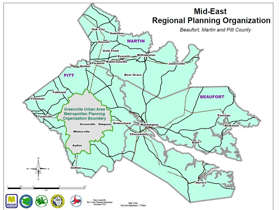 Rural Transportation Planning Organization Map