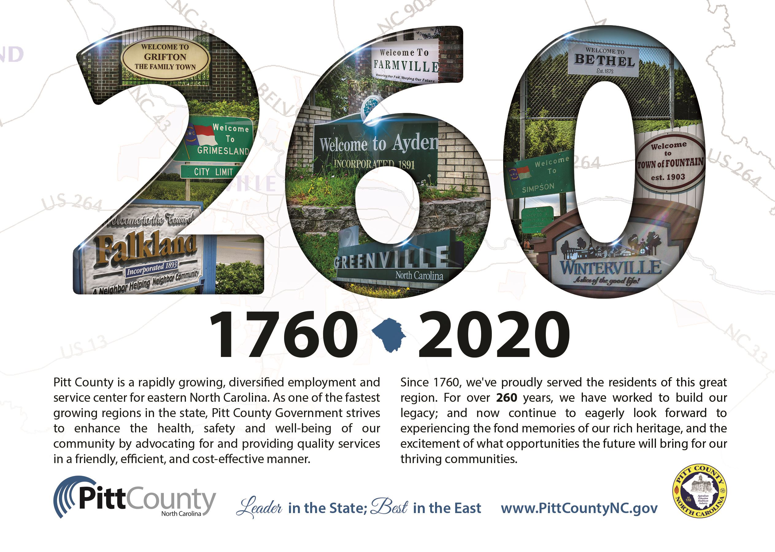 Pitt County 260th Anniversary Logo