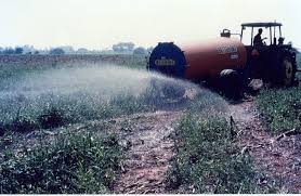 Picture of Nutrient Management Program spraying activity