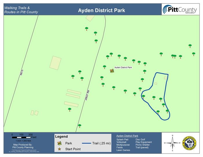 Ayden District Park Map